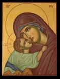 Fecioara Maria, Maica Domnului cu Pruncul, Dulcea sarutare